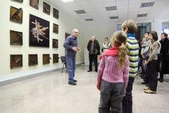 游览在宇航员培训中心 库存图片