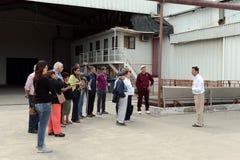 游览在酿酒厂圣丽塔的葡萄园里 免版税图库摄影