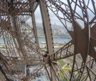 游览埃菲尔,巴黎结构  免版税库存图片