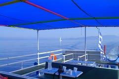 游览救生艇甲板 免版税库存图片