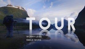 游览游客旅行观光的概念的游览旅游业 库存照片