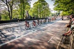 游览的de约克夏骑自行车者2018年 图库摄影