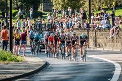 游览的de约克夏骑自行车者2018年 库存照片