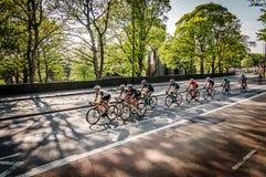 游览的de约克夏骑自行车者2018年 免版税库存照片