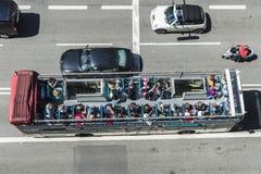 游览车在巴塞罗那 库存照片