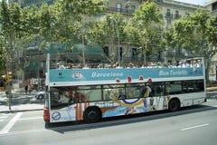 游览车,巴塞罗那 库存图片