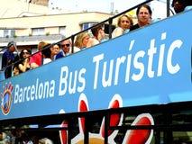 游览车巴塞罗那,西班牙 免版税库存图片