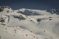 游览@罗杰斯通行证的滑雪 库存照片