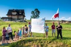 游览de Pologne 2015年 免版税库存照片