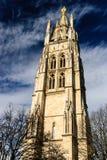 游览Pey-Berland钟楼,红葡萄酒,法国 免版税库存图片