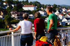 游轮旅行, Langesund,挪威 库存图片