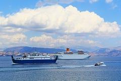 游轮科孚岛海岛希腊 库存图片
