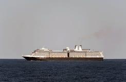 游轮Eurodam在北海。 库存照片
