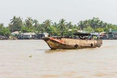 湄公河三角洲, Cai是镇,越南 图库摄影