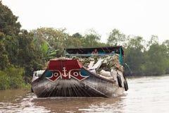 湄公河三角洲, Cai是镇,越南 库存照片