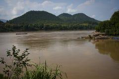 湄公河全景河视图 库存图片