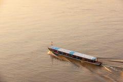 湄公河小船游览 库存图片