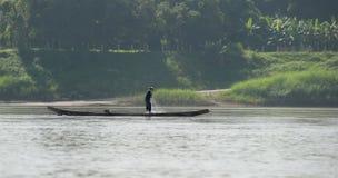 湄公河巡航在老挝 免版税库存图片