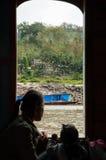湄公河旅途,老挝 免版税图库摄影