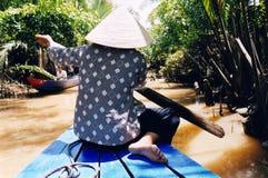 湄公河桨 免版税库存照片