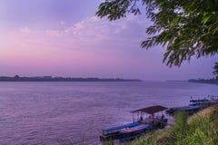 湄公河海岸。 免版税库存图片
