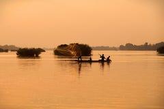 湄公河渔夫 库存图片