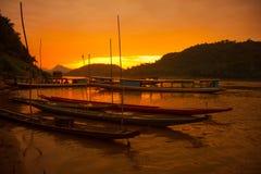湄公河渔夫 免版税库存图片