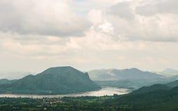 湄公河的河沿 免版税库存图片