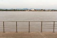 湄公河的看法在泰国老挝附近的 库存图片