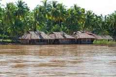 湄公河的,老挝之家。 免版税库存照片