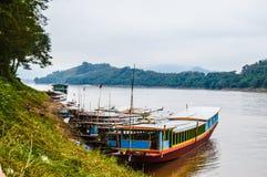湄公河老挝 免版税库存照片