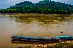 湄公河老挝 免版税图库摄影
