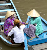 湄公河越南人妇女 库存照片