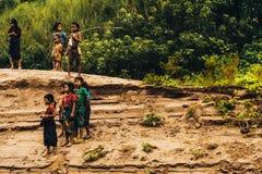 湄公河部落 免版税库存照片