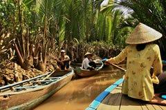 湄公河,越南 免版税图库摄影