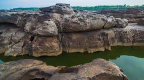3000湄公河bok未看见的美丽的岩石  免版税图库摄影