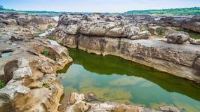 3000湄公河bok未看见的美丽的岩石  免版税库存照片