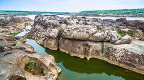 3000湄公河bok未看见的美丽的岩石  库存图片
