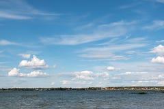 湖下午 免版税库存照片