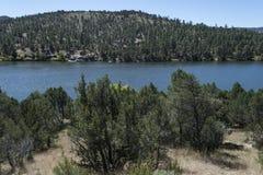 湖从Mesa营地的罗伯特景色 库存图片