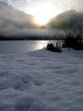 湖光亮的星期日 库存图片