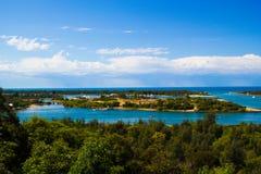 湖入口 免版税图库摄影
