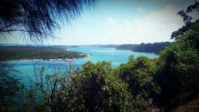 湖入风景监视 库存图片
