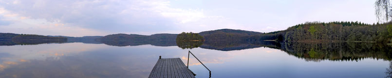 湖全景瑞典 库存照片
