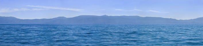 湖全景tahoe 库存照片