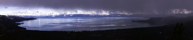 湖全景tahoe 库存图片
