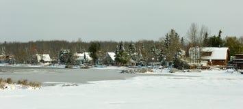 湖冬天 免版税库存图片