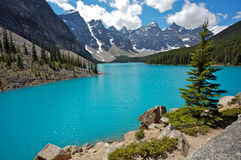 湖冰碛 库存图片