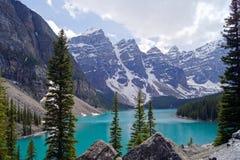 湖冰碛 库存照片