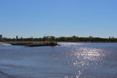 湖前面 免版税库存图片